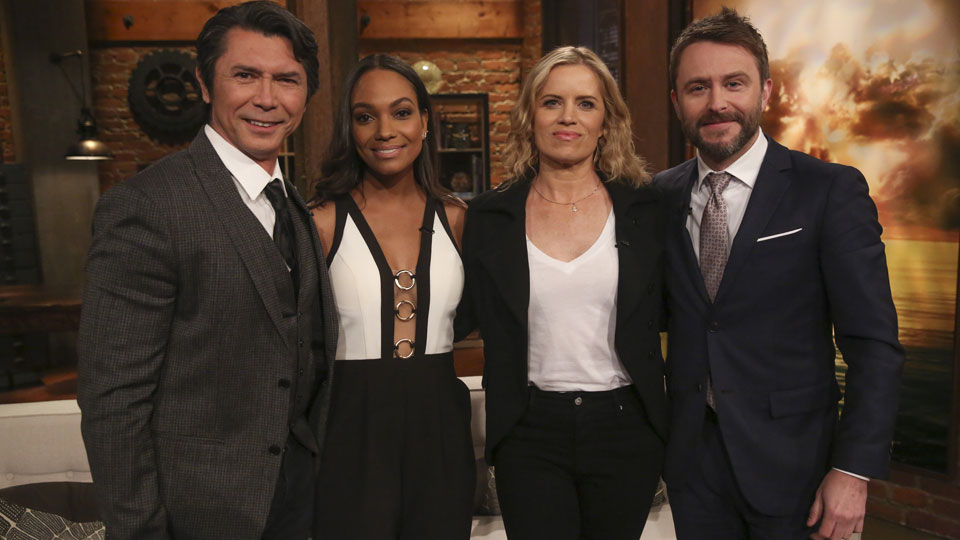 Chris Hardwick, Kim Dickens, Lou Diamond Phillips y Lyndie Greenwood