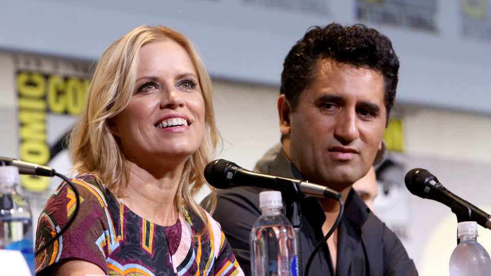 SAN DIEGO, CA - JULY 22: Actors Kim Dickens (L) and Cliff Curtis attend AMC's 'Fear The Walking Dead' panel during Comic-Con International 2016 at San Diego Convention Center on July 22, 2016 in San Diego, California. (Photo by Jesse Grant/Getty Images for AMC)