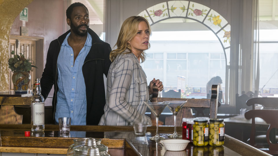 Victor Strand (Colman Domingo) and Madison Clark (Kim Dickens) en Episodio 9 Photo by Richard Foreman/AMC