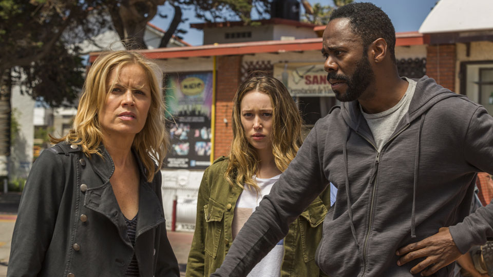 Madison Clark (Kim Dickens), Alicia Clark (Alycia Debnam-Carey) y Victor Strand (Colman Domingo) en Episodio 15 Photo by Richard Foreman/AMC