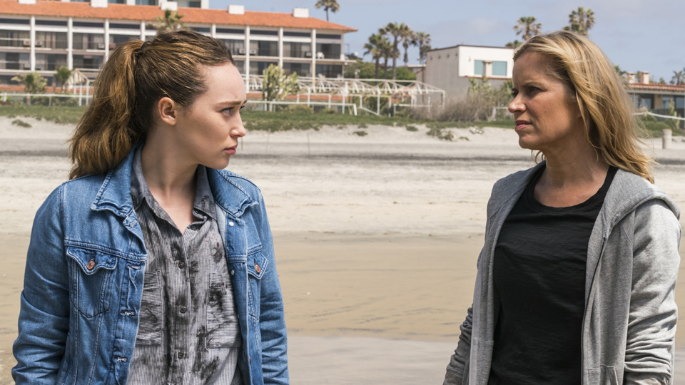 Kim Dickens as Madison Clark, Alycia Debnam-Carey as Alicia Clark- Fear the Walking Dead _ Season 2, Episode 11 - Photo Credit: Richard Foreman Jr/AMC
