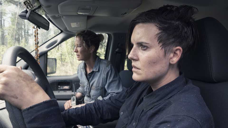 Maggie Grace as Althea, Jenna Elfman as Naomi - Fear the Walking Dead _ Season 4, Episode 12 - Photo Credit: Ryan Green/AMC