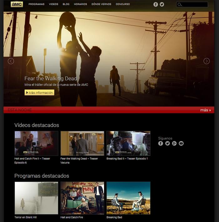 Página web AMC