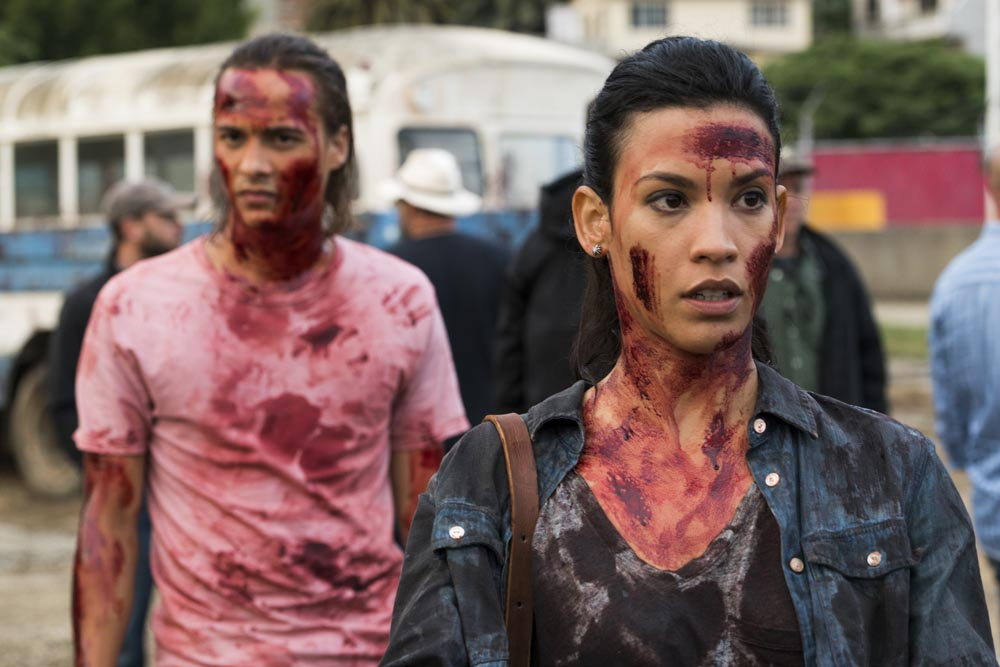 Frank Dillane as Nick Clark, Danay Garcia as Luciana - Fear the Walking Dead _ Season 2, Episode 9 - Photo Credit: Richard Foreman Jr/AMC