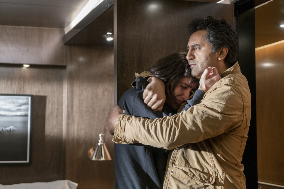 Christopher Manawa (Lorenzo James Henrie) and Travis Manawa (Cliff Curtis) in Episode 1 Photo by Richard Foreman/AMC