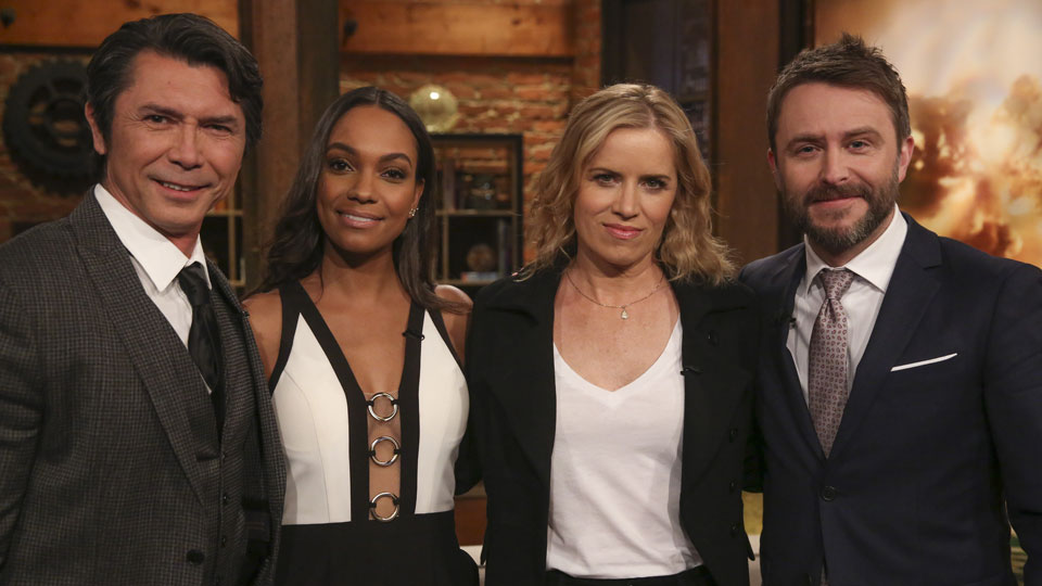 Lou Diamond Phillips, Lyndie Greenwood, Kim Dickens e Chris Hardwick Talking Dead: Fear Edition
