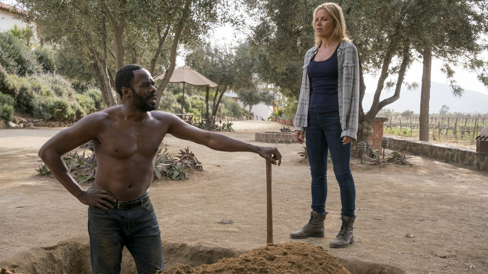 Madison Clark (Kim Dickens) e Victor Strand (Colman Domingo) no Episódio 7 Photo by Richard Foreman/AMC