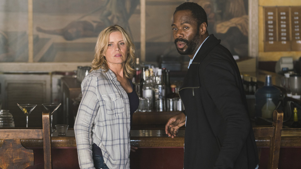 Madison Clark (Kim Dickens) e Victor Strand (Colman Domingo) no Episódio 9 Foto de Richard Foreman/AMC