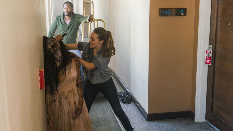 Victor Strand (Colman Domingo) e Alicia Clark (Alycia Debnam-Carey) Episódio 11 Foto de Richard Foreman Jr/AMC