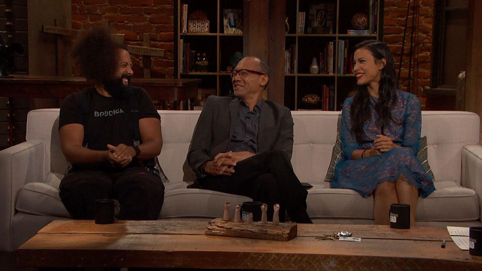 Reggie Watts, Paul Calderón, Danay Garcia