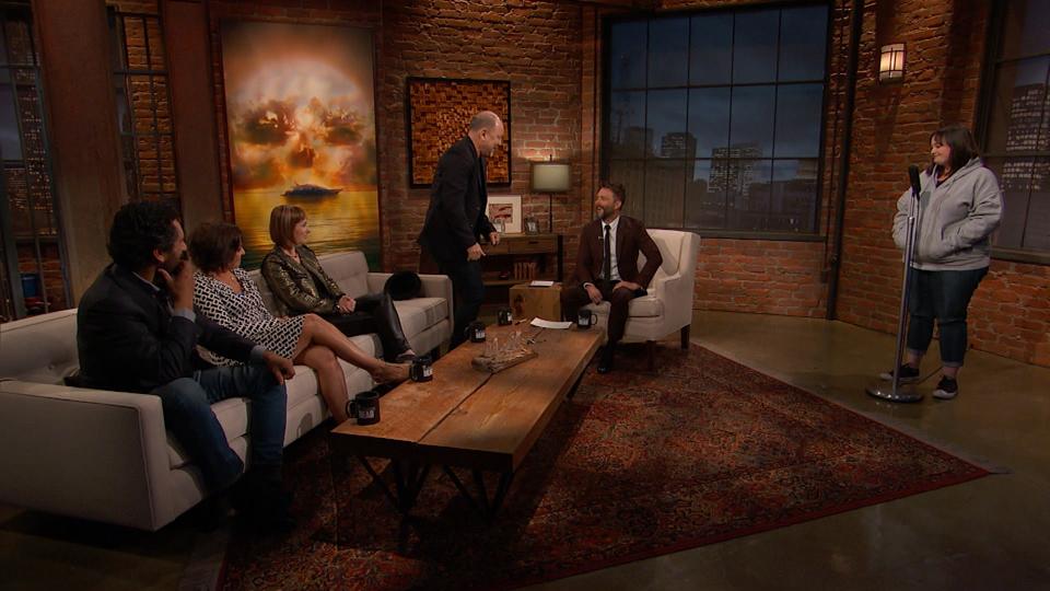 Cliff Curtis (Travis Manawa), Marlene Forte (Célia Flores), Gale Anne Hurd, Rubén Blades (Daniel Salazar) e Chris Hardwick