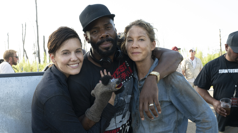 BTS, Maggie Grace as Althea, Colman Domingo as Victor Strand, Jenna Elfman as Naomi - Fear the Walking Dead _ Season 4, Episode 12 - Photo Credit: Ryan Green/AMC