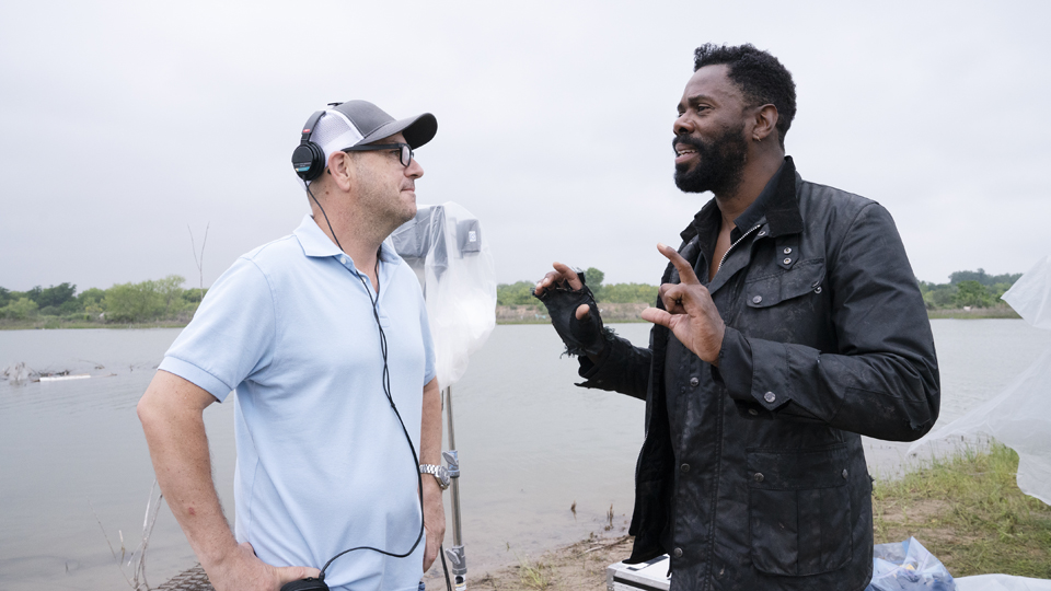 BTS, Director Michael E. Satrazemis, Colman Domingo as Victor Strand - Fear the Walking Dead _ Season 4, Episode 13 - Photo Credit: Ryan Green/AMC