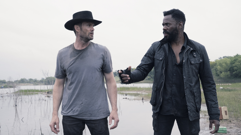 Colman Domingo as Victor Strand, Garret Dillahunt as John Dorie - Fear the Walking Dead _ Season 4, Episode 13 - Photo Credit: Ryan Green/AMC