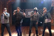 "Watch The Lonely Island Perform ""YOLO"" with Jimmy Fallon, The Roots"