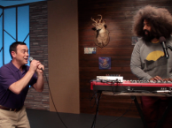 Reggie makes music with guest Joe LoTruglio