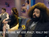 Sing along with Scott, Reggie, and Casey in Comedy Bang! Bang! The Musical.