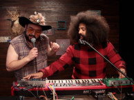 Reggie makes music with guest Horatio Sanz