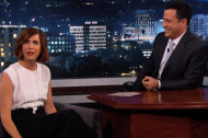 Kristen Wiig Talks <em>Spoils</em>, Brings Date to Kimmel