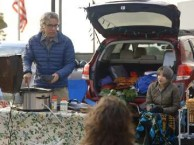 Fans of A Prairie Home Companion enjoy a hot bowl of Onion Soup while tailgating.