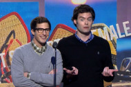 Samberg and Hader Ask McConaughey Tough <em>True Detective</em> Questions