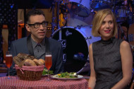 Watch Mario Batali Cook a Late Night Dinner for Fred Armisen and Kristen Wiig