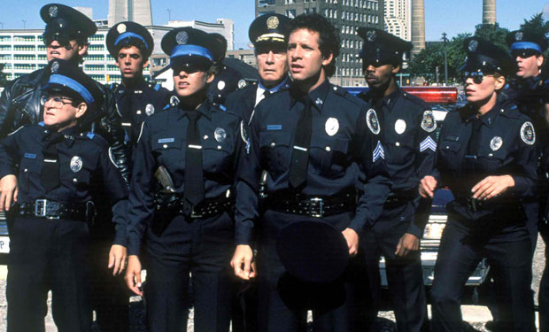 9 unforgettable moments from the police academy movies ifc. Black Bedroom Furniture Sets. Home Design Ideas