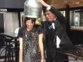Fred Armisen and Carrie Brownstein take the the ALS Ice Bucket Challenge and nominate the entire city of Portland!