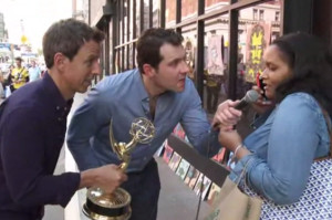 Seth Meyers Does Special Emmy Edition of Billy on the Street