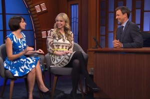 Kate and Riki Talk About Their Hall & Oates Strip Tease on Late Night