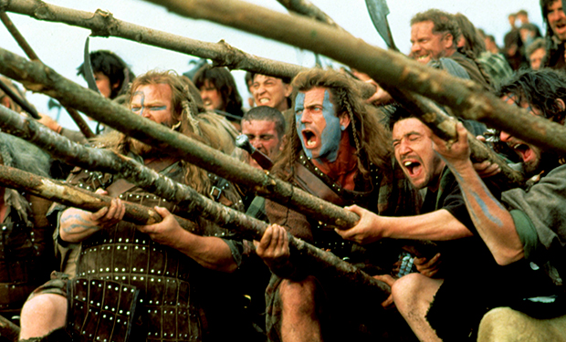 BRAVEHEART, Mel Gibson, 1995. TM and Copyright (c) 20th Century Fox Film Corp. All rights reserved.
