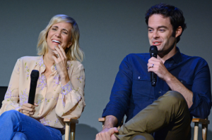 Bill Hader and Kristen Wiig Tease Local Reporter for Not Seeing Their Movie