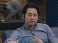 Steven Yeun lets a spoiler slip through the cracks.