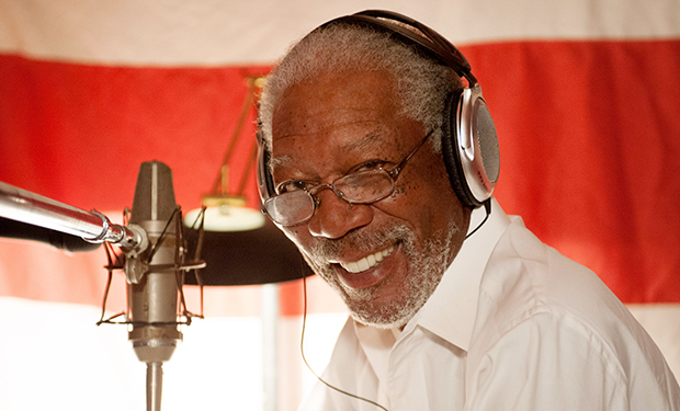 ISLAND OF LEMURS: MADAGASCAR, Morgan Freeman recording narration, 2014. Ph: Ron