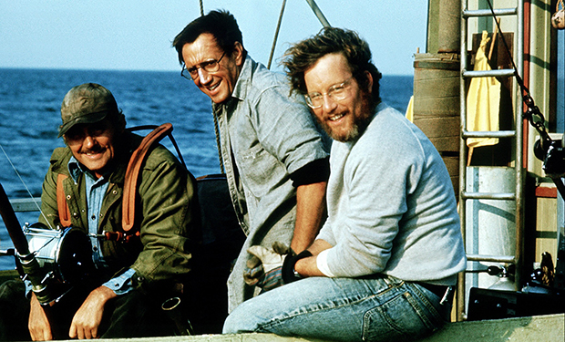 JAWS, Robert Shaw, Roy Scheider, Richard Dreyfuss, 1975
