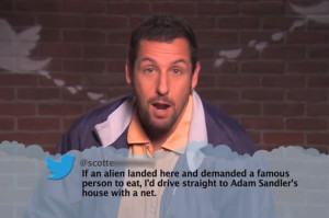 Watch Adam Sandler, Chris Pratt and More Read Mean Tweets About Themselves