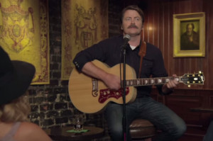 Watch Nick Offerman Sing a Moving Ode to Whisky