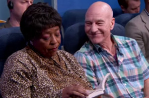 Watch Patrick Stewart Play Everyone You Hate on an Airplane