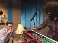 Reggie Watts makes music with guest Jon Hamm.