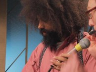 Reggie Watts makes music with guest Andy Daly.