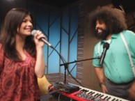 Reggie Watts makes music with guest Casey Wilson.