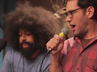 Reggie Watts makes music with guest Paul Rudd.