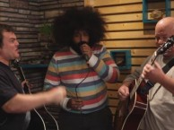 Reggie Watts makes music with guests Tenacious D.