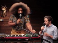 Reggie Watts and Simon Helberg come together to create music about stormy minds and box beating.