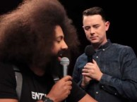 Reggie Watts creates an improvised song with the help of special guest Colin Hanks.