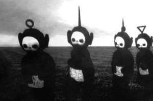 Watch the Teletubbies in Black & White… Through Your Fingers