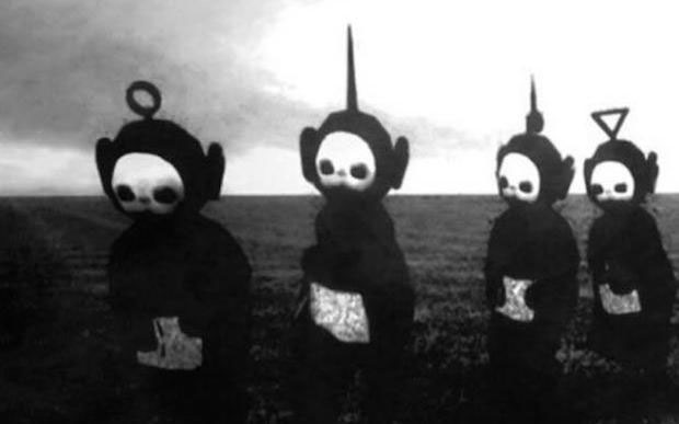 teletubbies-black-and-white