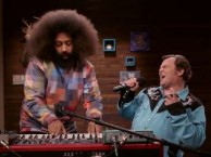 Reggie Watts creates an improvised song with the help of special guest Jack Black.