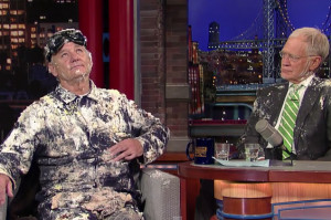 Bill Murray Jumps Out of a Cake for One Last Big Entrance on Letterman