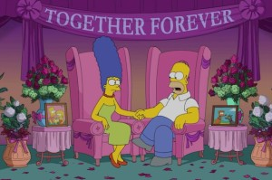 Woo hoo! Watch Homer and Marge Deny Divorce Rumors